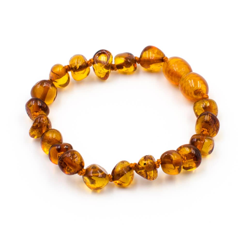 8bdbbb9c777 Bracelet Ambre Bébé Perles Baroques - 123Ambre