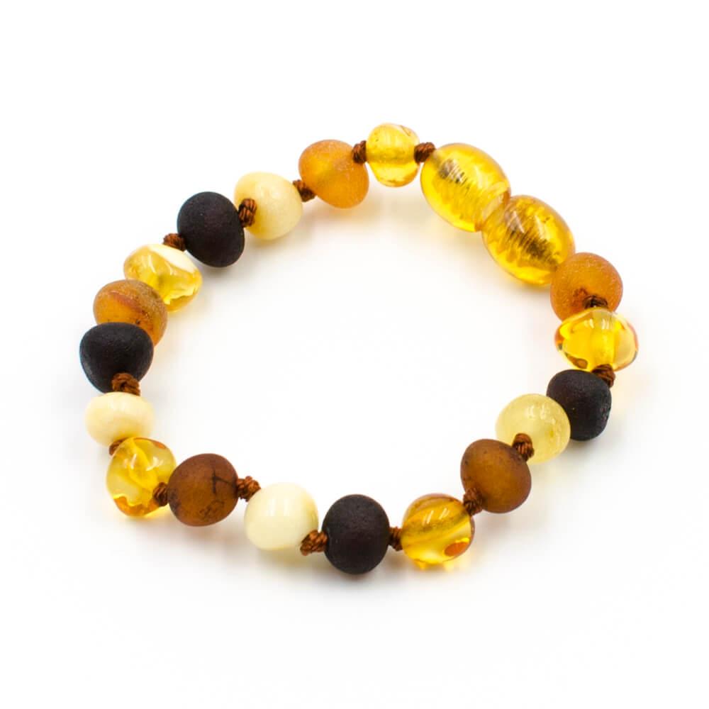 bracelet ambre b b perles baroques mix multicolore 123ambre. Black Bedroom Furniture Sets. Home Design Ideas
