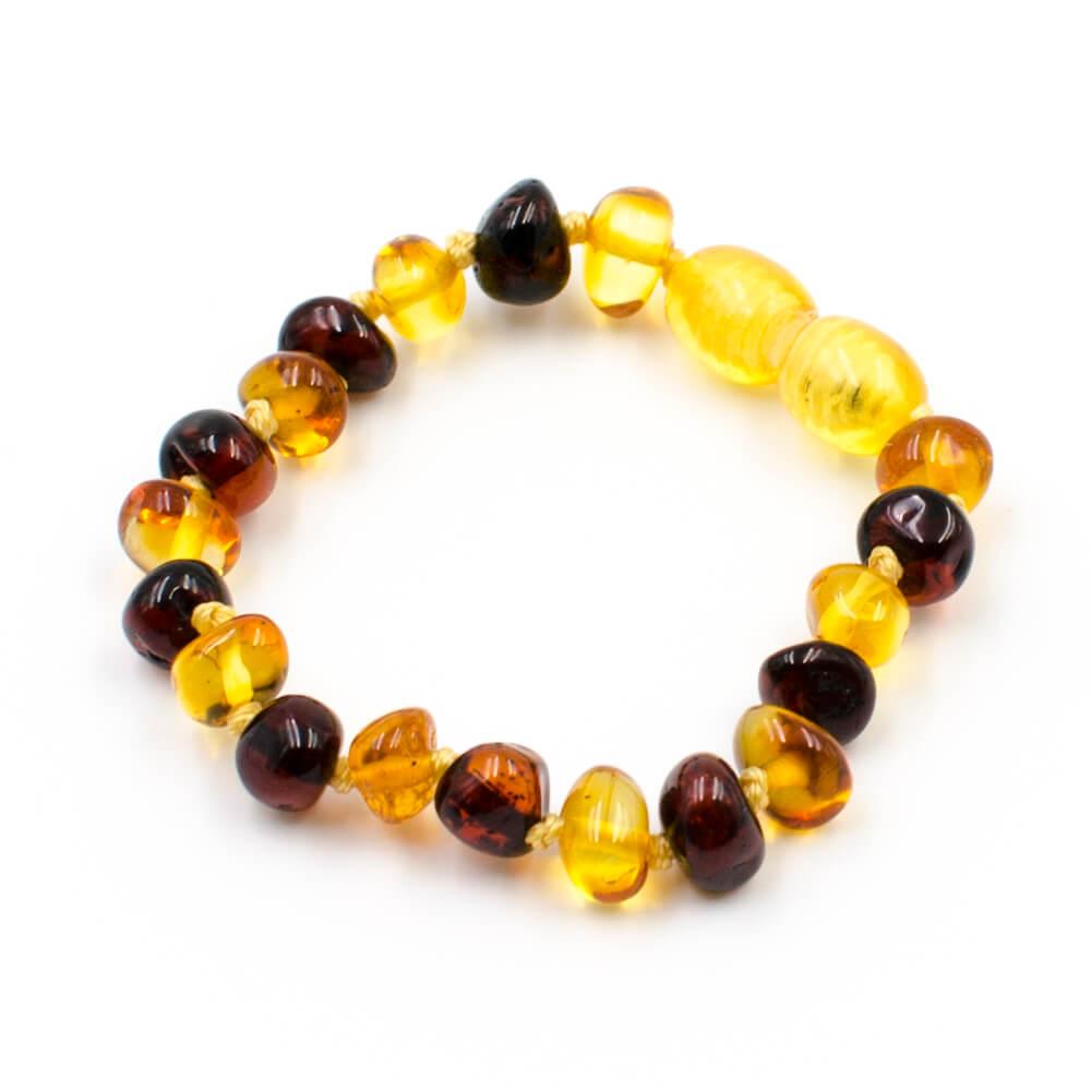 bracelet ambre b b perles baroques 2 couleurs 123ambre. Black Bedroom Furniture Sets. Home Design Ideas