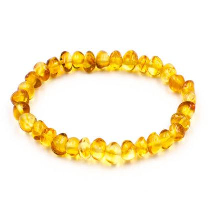 Bracelet Ambre Femme Perles Baroques Miel