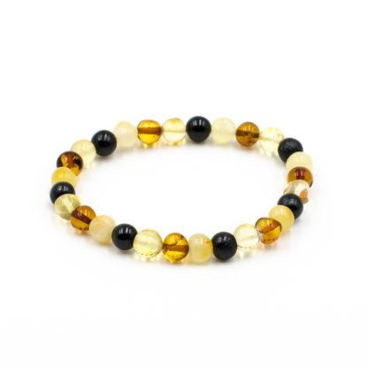 Bracelet Ambre Femme Perles Baroques Multicolore