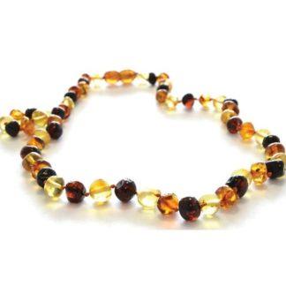 Collier Ambre Femme Perles Baroques Multicolore