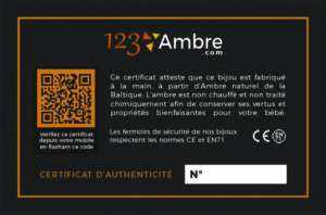 Exemple de certificat d'authenticité