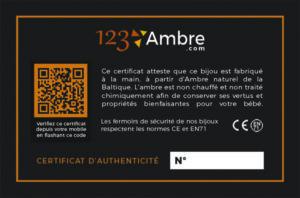 Exemple de certificat d'authenticité