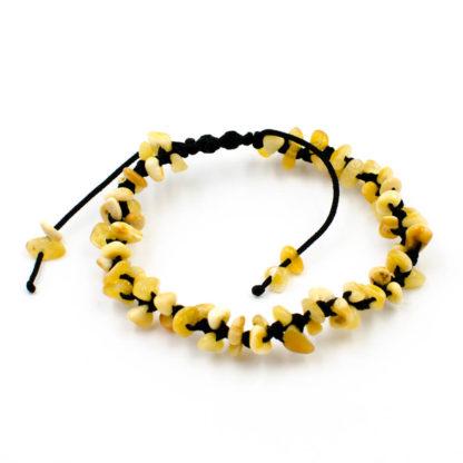 Bracelet Femme Shamballa Noir Ambre Royal
