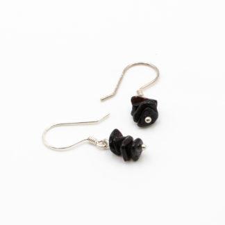 Boucles d'Oreilles Ambre Éclats Modernes Noir