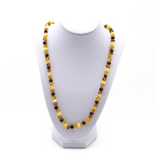 Sautoir Ambre Perles Baroques Multicolore