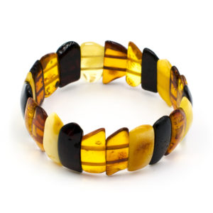 Bracelet Ambre Femme Pièces Plates Multicolore