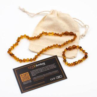 Pack Collier d'Ambre + Bracelet d'Ambre Perles Baroques