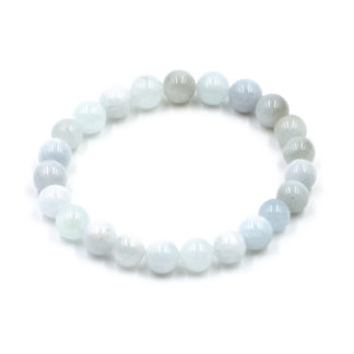 Bracelet Femme Aigue-Marine Naturelle 8mm