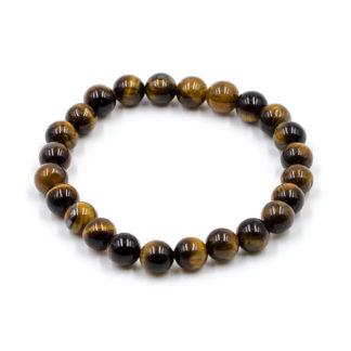 Bracelet Oeil de Tigre Perles Rondes 8mm