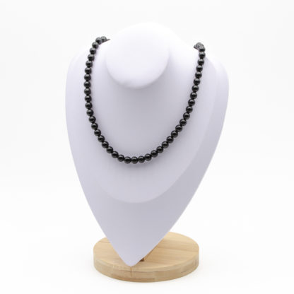 Collier Obsidienne Perles Rondes