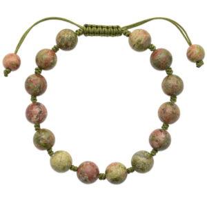 Bracelet Shamballa Unakite
