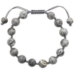 Bracelet Shamballa Jaspe Gris