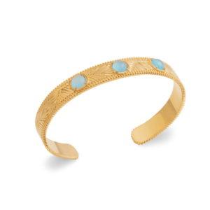 Bracelet Shaula - Plaqué Or et Agate Bleue